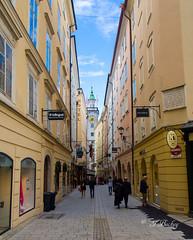 Salzburg (t.beckey) Tags: salzburg austria salzach salzachriver river building structure europe steeple view city architecture
