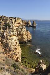 Ponta Da Piedade (James Mans) Tags: d5500 nikon portugal europe 1020mm coastline coast sea ponta da piedade blue sky cliff rock