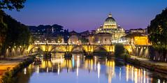 Ponte Sant'Angelo (...:Pixlwichtl:...) Tags: bearbeitet blauestunde engelsburg italien rom ponte santangelo vatican vaticano wwwpickhardde italy roma