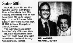 1991 - Wendell and Irene [Letherman] Suter 50th - South_Bend_Tribune_Sun__Sep_15__1991_