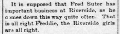 1897 - Fred Suter Jr courting - Enquirer - 26 Feb 1897