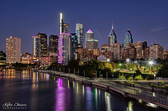 Philadelphia South Street Bridge (Kofla Olivieri) Tags: philadelphiasouthstreetbridge downtown philly night longexposure cityskyline koflaolivieri adobephotoshopelements topazclarity topazadjust bluehour schuylkillriverboardwalk sunset hdr nightphotography waterfront pennsylvania southstreetphiladelphia centercityphilly universitycity schuylkillriver visitphilly cityofbrotherlylove phillygram southstreetbridge schuylkillrivertrail cityskylineatnight nikon centercity instagram