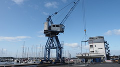 on the hook (1elf12) Tags: hafen schleswig germany deutschland kran boot boat harbour crane