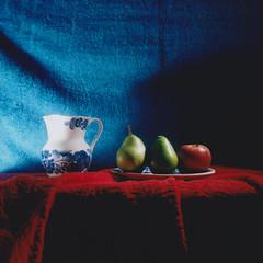 pears and an apple (Neko! Neko! Neko!) Tags: colours apple pears stilllife polaroid instantfilm peelapart analogue mamiya rb67
