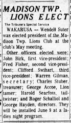 1964 - Wendell Suter elected Lions Club president - South_Bend_Tribune_Mon__May_25__1964_