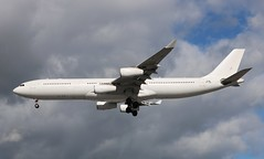 OO-ABE Airbus A340-313 Air Belgium (R.K.C. Photography) Tags: ooabe airbus a340313 a340 airbelgium abb kf aircraft airliner aviation london england unitedkingdom uk 27r londonheathrowairport lhr egll canoneos750d
