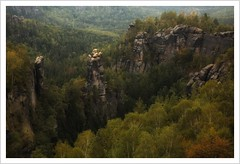 Auch im Elbi gibt's einen Dom (Norbert Kaiser) Tags: sachsen saxony sächsischeschweiz saxonswitzerland elbsandsteingebirge elbesandstonemountains dom fels felsen sandstein sandstone natur nature landschaft landscape wald forest carolafelsen aussicht kletterfelsen