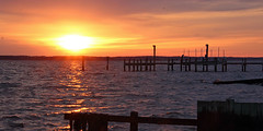 sunrise over the patuxent river (scott1346) Tags: water sunrise river morning reflections beauty orange lavender black silhouette 1001nightsthenew canont3i autofocus 1001nightsmagiccity 1001nightsmagicwindow contactgroups