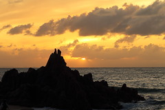 Sunset (Teruhide Tomori) Tags: nature landscape seascape japan japon beach sunset sea ocean coast shore seashore fukui wakasa mihama sun clouds sky 日本 若狭湾 美浜 水晶浜 suishohamabeach 北陸 福井県 風景 日没 夕日 砂浜 海岸