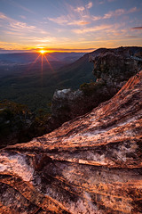 Blue Mountains (craigholloway) Tags: nsw australia bluemountains sunset landscape sunstar sony a7rii lookout