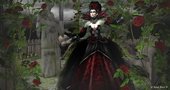 Virtual Trends: My Prey (Anaelah ~ Miss Virtual Diva ♛ 2018) Tags: halloween vampire women roleplay rp fantasy gothic costume fancy outfit clothes hairs mesh maitreya belleza slink hourglass omega appliers design skin rose flower blood sexy victorian trick treat irrisistible shop dracula teeth veins horror creepy theater national coth5 fun fence outside bar nature blue beauty secondlife sl style shopping jewelry fashion news virtual avatar glamour glamorous sunset anaelstarr photoshop creative butterfly shadows contrast photography anaelah weather snow