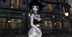 Everyday Witch (Miru in SL) Tags: secondlife sl pink charcoal millenial witch gacha redfish tattoos the dark style fair mesh clothing gothic makeup
