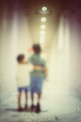 Brotherhood (Mister Blur) Tags: brothers brotherhood brothersinarms walking together blur lights blurry flicker hallway pasillo moon méxico palace resort cancún legrand 35mm lens nikon nikkor rodrigo hermanos rubén fotografía d7100 snapseed