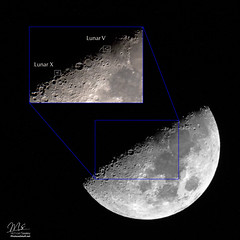 Lunar X (Michael Seeley) Tags: celestron florida lunarv lunarx melbourne michaelseeley moon moonphases moonpictures moonshot waxinggibbousmoon mikeseeley