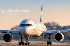 N13110 (timo.soyke) Tags: n13110 united unitedairlines boeing b757 b757200 ham eddh hamburg hamburgairport lineup takeoff plane airplane aircraft