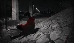 I WON'T BE THE ONE TO LEAVE THIS IN PIECES (PeachySick11) Tags: pieces linkin park song lyrics no sere el que deje esto en piezas pedazos echo trozos loneliness soledad outskirts afueras noche night dark oscuro calle road street carretera camino bridge underbridge puente silhouette backlighting contraluz silueta depression depressed sadness tristeza red rojo lofi lost perdido