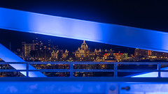 Blue looks good on you! (Picture-Perfect Pixels) Tags: flickrexploreoctober82019 victoria blues downtown litup newjohnsonstreetbridge night nightime blue britishcolumbia streetphotography
