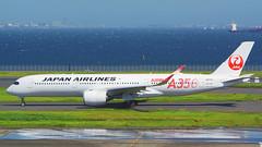Airbus A350-941, JA01XJ, Japan Airlines (Special A350 logo) (tkosada.mac) Tags: sonyalpha ilca77m2 japanairlines oneworld airbus a359 tokyointernationalairport hanedaairport hnd rjtt
