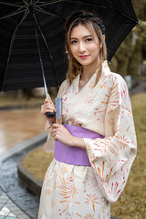 Yumi (Francis.Ho) Tags: yumi xt3 fujifilm girl woman female femme lady portrait people beauty pretty lips eyes hair face elegant glamour young sensuality fashion naturallight fashionable attractive stylish 日本 ポートレート kimono yukata oiran geisha umbella rain