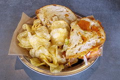 Ole Smokey (Richard Melton) Tags: food sandwich melt lunch chips huntsville alabama meal
