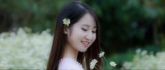 Beautiful smile (khoitran1957) Tags: girl beauty beautiful smile nature flower garden vietnam travel women woman aodai
