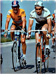 1975 TdS Roger & Eddy (Sallanches 1964) Tags: tourdesuisse 1975 stagerace rogerdevlaeminck eddymerckx worldchampionroadcycling yellowjersey