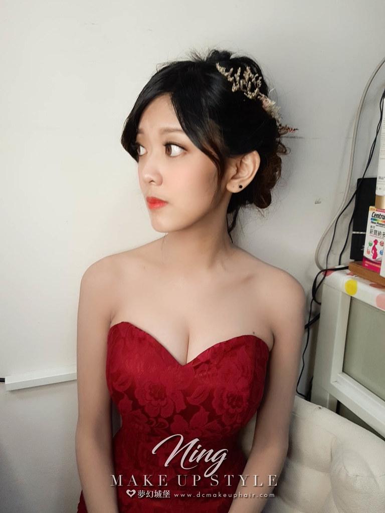 【新秘羽寧】bride瑜珊 訂婚造型 / 日系盤髮