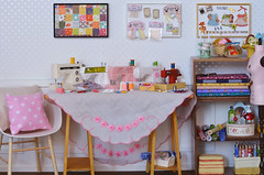 Another Sewing Room (Moonrabbit_ly) Tags: rement miniature dollhouse diorama sewingroom sewingmachine onesixscale