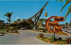 Half Moon Inn Hotel-Boatel, San Diego, California (SwellMap) Tags: postcard vintage chrome old 60s 50s sixties fifties