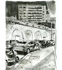 Ink06 (sylvain.cnudde) Tags: sketch street usk urbansketch urbansketcher urbansketching onlocation outdoorsketch dessin dessinerdehors drawing ville nuit nightsketch