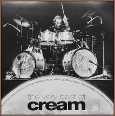 Farewell Ginger (M E For Bees (Was Margaret Edge The Bee Girl)) Tags: tribute drums cream gingerbaker musician playing greyscale blackandwhite cd music jazz rock legend