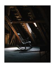 Philosopher's Chair (Thomas Listl) Tags: thomaslistl color mood copenhagen denmark chair rockingchair rocker attic loft window naturallight lighting wood diagonal roof indoor interior