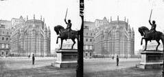 Stone fort to Imperial Court (National Library of Ireland on The Commons) Tags: thestereopairsphotographcollection lawrencecollection stereographicnegatives jamessimonton frederickhollandmares johnfortunelawrence williammervynlawrence nationallibraryofireland westminsterabbey westminsterpalace statue square london england