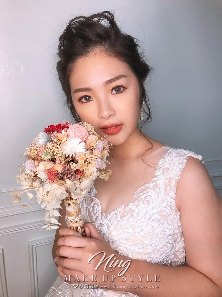 【新秘羽寧】新娘造型創作 / 唯美盤髮