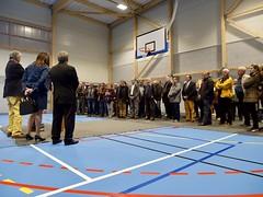 (eureenligne) Tags: inauguration octobre 2019 saintgeorgesduvievre salledesport planlarge bleu blanc