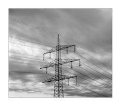 power pole (Armin Fuchs) Tags: arminfuchs nomansland powerpole diagonal sky clouds 6x7 stripes anonymousvisitor thomaslistl wolfiwolf jazzinbaggies niftyfifty