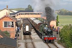 7828 GWR 4-6-0 'Odney Manor' (Roger Wasley) Tags: 7828 gwr 460 odney manor williton great western railway west somerset steam locomotive engine train heritage preserved preservation station