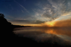 First frost (Patricia Buddelflink) Tags: lake autumn frost clouds sunrise nature landscape
