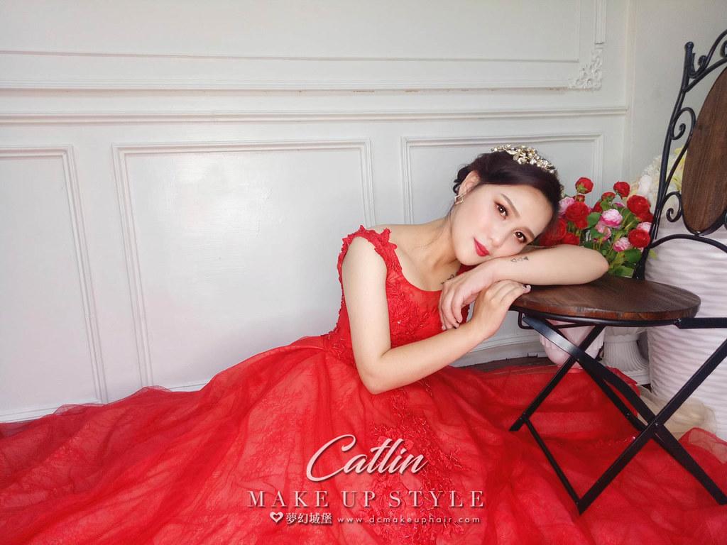 【新秘Catlin】新娘造型創作 / 優雅盤髮
