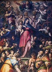 Our Lady of the Most Holy Rosary (Lawrence OP) Tags: rosary painting florence dominican holytrinity vasari ourlady santamarianovella stdominic ourladyoftherosary stpiusv