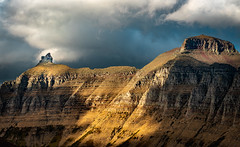 Dramatic Light On Bishops Cap, Glacier National Park (j-rye) Tags: fall glaciernationalpark landscape clouds mountains nature sky sonyalpha sonya7rm2 ilce7rm2 mirrorless light drama