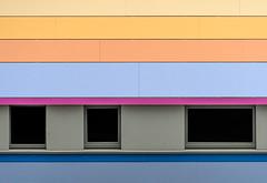 Coloured wall (jefvandenhoute) Tags: belgium belgië brussels brussel light shapes geometric wall windows laken