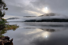 Dreamy...! (vincocamm) Tags: cumbria ullswater lake ullswaterlake morning mist misty reflection water hill mountain clouds waterscape autumn october nikon d5500