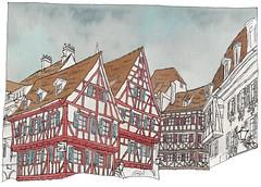 France, Alsace, Colmar (pirlouit72) Tags: france alsace colmar sketch drawing dessin croquis urbansketch urbansketcher urbansketchers carnetdevoyage