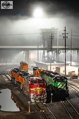 Foggy Tall Tower - Kansas City, KS (Mo-Pump) Tags: train trains railroad railfan railroader railway railroading railroads railfanrailroader locomotive