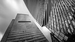 City Haus II (s.W.s.) Tags: frankfurt germany deutschland architecture architectural building abstract city urban longexposure neutraldensity blackandwhite sky glass lookup nikon lightroom