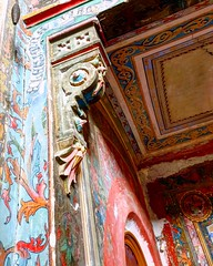Sturdza Castel (xandriaam) Tags: sturdza gothic castle abandoned abandonedcastle neogothic sturdzacastle old architecture forgotten lostplaces romania ro memory colors painting walls details