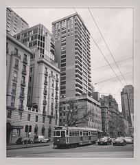 melbourne, australia (agentdeliaison) Tags: bnw bnwphoto bnwphotography blackandwhite sepia blackandwhitephotography streetphotography streetphoto citystreets cityphotography photooftheday city street melbournecity melbournephotography