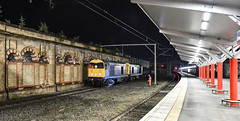 20096 and 20107 crawl to a stop at Crewe (robmcrorie) Tags: 6z38 20096 20107 class 20 dcr crewe station longport esso pinnox branch sidings spoil ballast shunter headlight head lamp light nikon d850