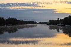 river (Yuki (8-ballmabelleamie)) Tags: foxriver sunrise daybreak dawn misty mist steam river scenery dreamscape landscape morning reflection mchenrycounty